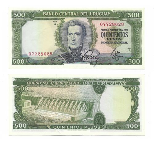 Urugoay 500 pesos 1967