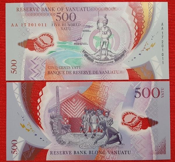 Vanuatu 500 vatu - polymer