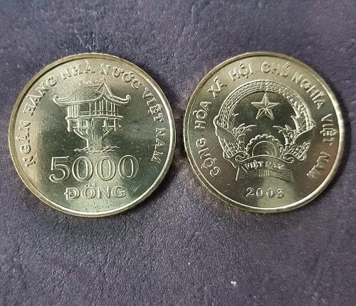 Xu 5000 Đồng Năm 2003