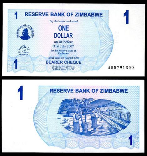 Zimbabwe 1 dollar 2006