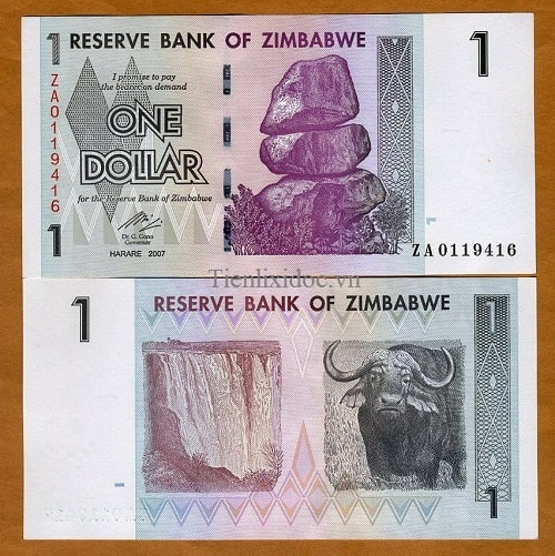 Zimbabwe 1 dollar 2008