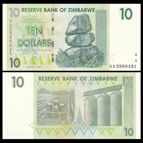 Zimbabwe 10 dollars 2007
