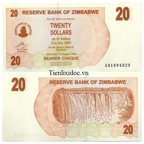 Zimbabwe 20 dollar