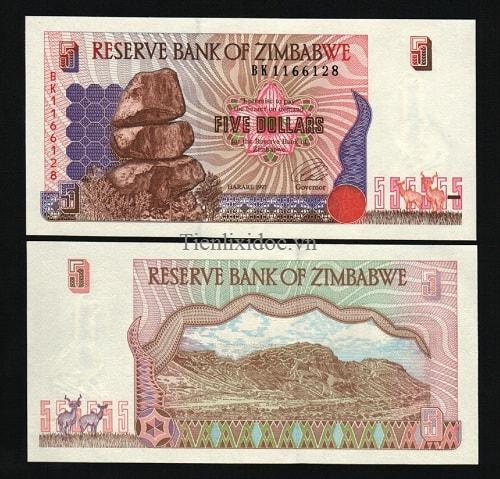 Zimbabwe 5 dollar 1997